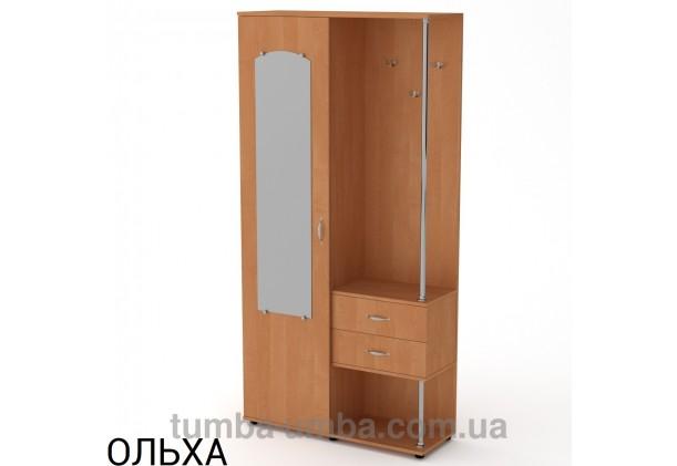 Фото готовая прихожая Надежда со шкафом и зеркалом в коридор в цвете ольха дешево от производителя с доставкой по всей Украине