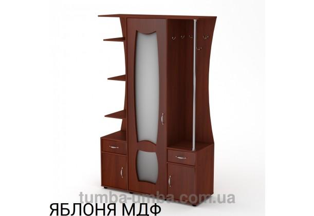 Фото готовая прихожая Татьяна МДФ со шкафом и зеркалом в коридор в цвете яблоня дешево от производителя с доставкой по всей Украине