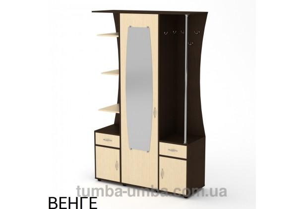 Фото готовая прихожая Татьяна со шкафом и зеркалом в коридор в цвете венге дешево от производителя с доставкой по всей Украине