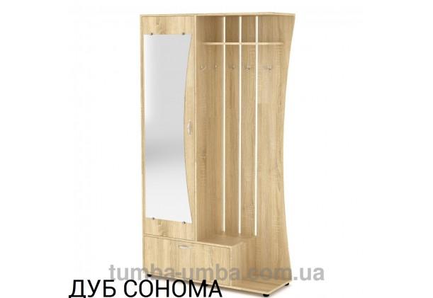 Фото готовая прихожая Юлия со шкафом и зеркалом в коридор в цвете дуб сонома дешево от производителя с доставкой по всей Украине