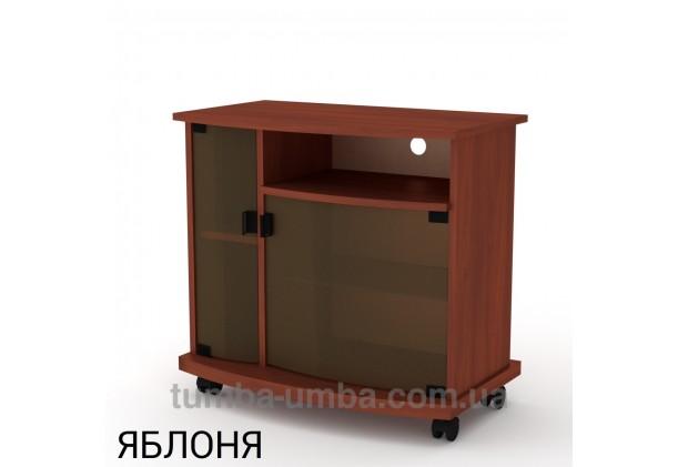 Фото недорогая современная напольная тумба под телевизор и аппаратуру Амбасадор-Нью ДСП в цвете яблоня дешево от производителя с доставкой по всей Украине