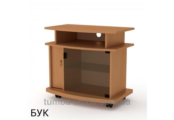 Фото недорогая современная напольная тумба под телевизор и аппаратуру Амбасадор ДСП в цвете бук дешево от производителя с доставкой по всей Украине