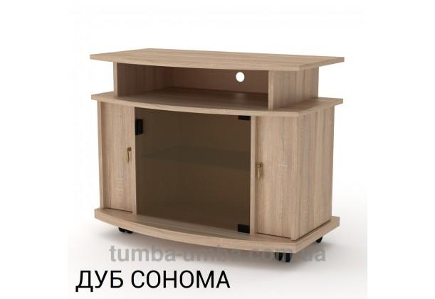 Фото недорогая современная напольная тумба под телевизор и аппаратуру Америка ДСП в цвете Дуб Сонома дешево от производителя с доставкой по всей Украине