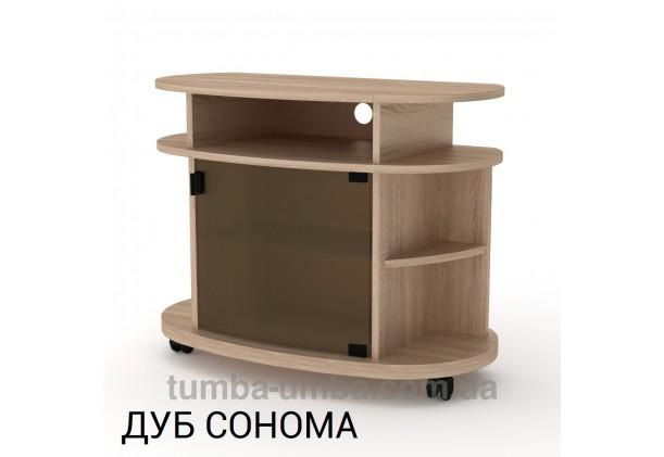 Фото недорогая современная напольная тумба под телевизор и аппаратуру Лондон ДСП в цвете Дуб Сонома дешево от производителя с доставкой по всей Украине