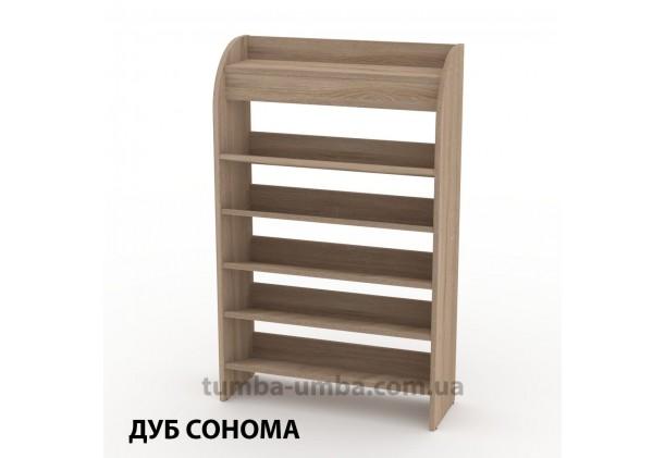 фото недорогой современной тумбы для обуви ТО-10 Компанит дуб сонома в прихожую в интернет-магазине мебели эконом-класса TUMBA-UMBA™