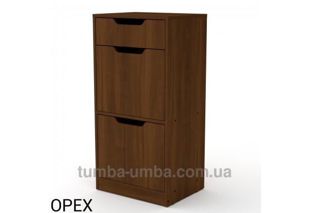 фото недорогой современной тумбы для обуви ТО-11 Компанит  орех экко в прихожую в интернет-магазине мебели эконом-класса TUMBA-UMBA™