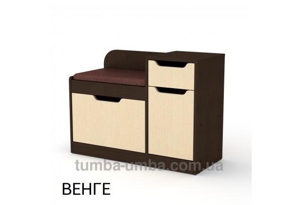фото недорогой современной тумбы для обуви ТО-12 Компанит венге в прихожую в интернет-магазине мебели эконом-класса TUMBA-UMBA™