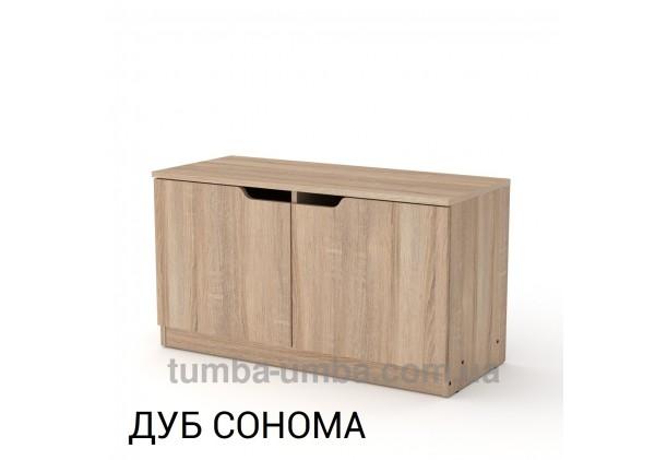 фото недорогой современной тумбы для обуви ТО-13 Компанит дуб сонома в прихожую в интернет-магазине мебели эконом-класса TUMBA-UMBA™