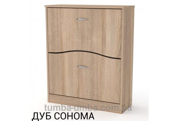 фото недорогой современной тумбы для обуви ТО-2 Компанит дуб сонома в прихожую в интернет-магазине мебели эконом-класса TUMBA-UMBA™