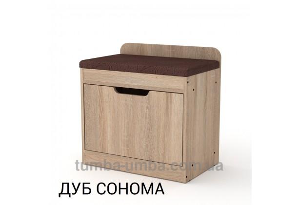 фото недорогой современной тумбы для обуви ТО-8 Компанит дуб сонома в прихожую в интернет-магазине мебели эконом-класса TUMBA-UMBA™