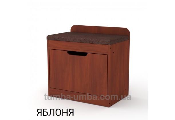 фото недорогой современной тумбы для обуви ТО-8 Компанит яблоня в прихожую в интернет-магазине мебели эконом-класса TUMBA-UMBA™