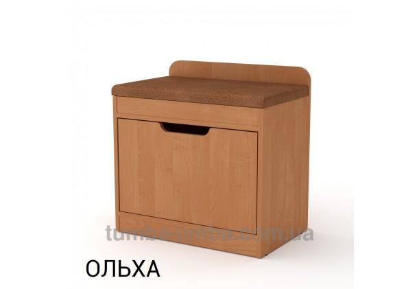 фото недорогой современной тумбы для обуви ТО-8 Компанит ольха в прихожую в интернет-магазине мебели эконом-класса TUMBA-UMBA™