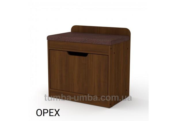 фото недорогой современной тумбы для обуви ТО-8 Компанит орех экко в прихожую в интернет-магазине мебели эконом-класса TUMBA-UMBA™