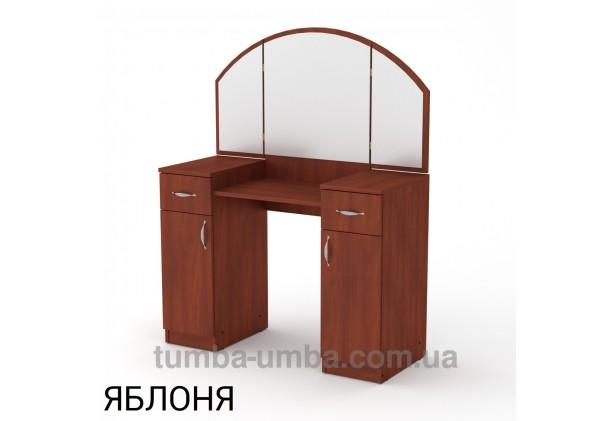Фото женский туалетный столик-4 трельяж с зеркалами и тумбами для косметики в спальню или прихожую в цвете яблоня дешево от производителя с доставкой по всей Украине