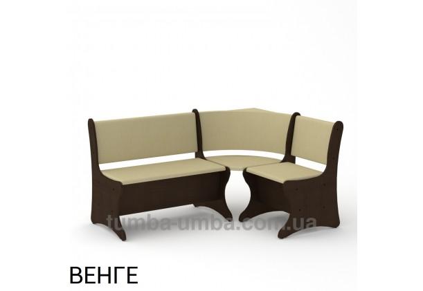 Фото недорогой простой стандартный угловой кухонный диванчик Италия ДСП с нишами для хранения для дома, дачи или бани в цвете венге дешево от производителя с доставкой по всей Украине
