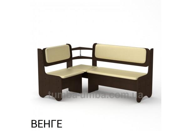 Фото недорогой простой стандартный угловой кухонный диванчик София ДСП с нишами для хранения для дома, дачи или бани в цвете венге дешево от производителя с доставкой по всей Украине