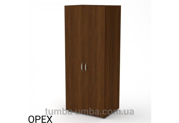 Фото недорогой готовый стандартный платяной Шкаф-18 ДСП для одежды в цвете Орех Экко дешево от производителя с доставкой по всей Украине