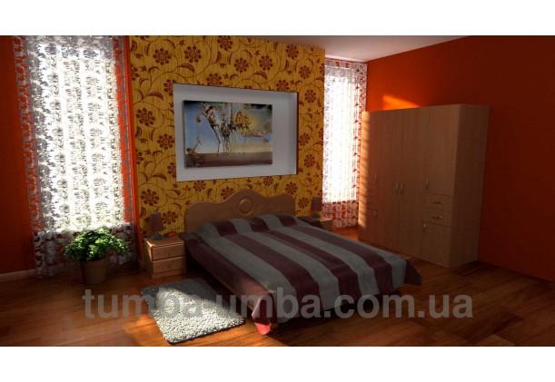 Фото недорогой готовый стандартный платяной Шкаф-20 ДСП для одежды с выдвижными ящиками в интерьере спальни дешево от производителя с доставкой по всей Украине