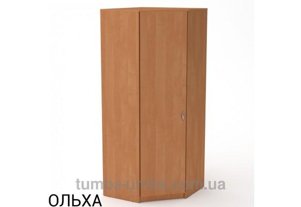 Фото недорогой готовый стандартный угловой Шкаф-3У ДСП для одежды в цвете ольха дешево от производителя с доставкой по всей Украине
