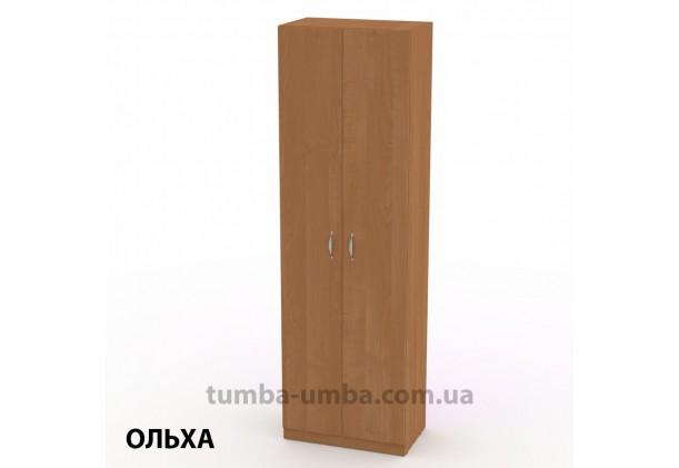 Фото недорогой готовый стандартный платяной Шкаф-11 ДСП для одежды в цвете ольха дешево от производителя с доставкой по всей Украине