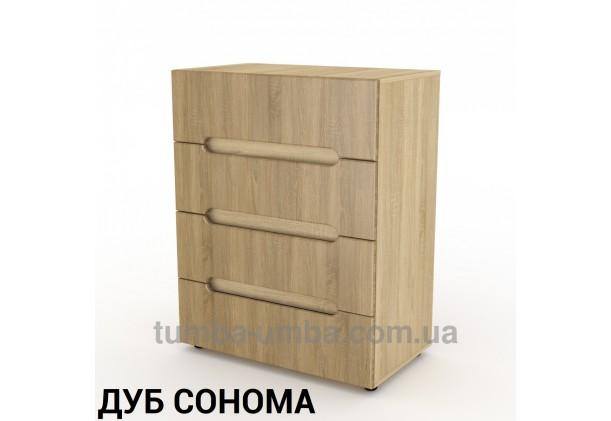 Фото недорогой современный комод 7 МДФ Компанит цвет дуб сонома в интернет-магазине TUMBA-UMBA™ Украина