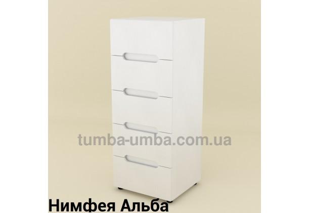 Фото недорогой современный комод 8 ДСП Компанит цвет Нимфея Альба (белый структурный) в интернет-магазине TUMBA-UMBA™ Украина