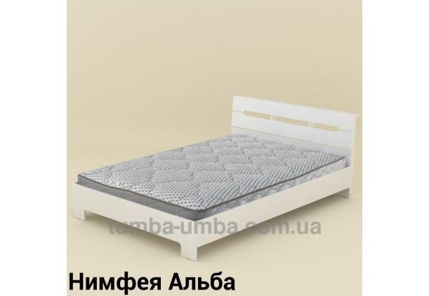 фото стандартная кровать Стиль-140 см Компанит в спальню, на дачу или для общежития в цвете Нимфея Альба (белый структурный) дешево от производителя с доставкой по всей Украине
