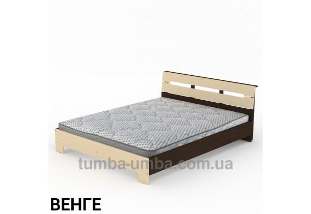фото стандартная кровать Стиль-160 см Компанит в спальню, на дачу или для общежития в цвете венге дешево от производителя с доставкой по всей Украине