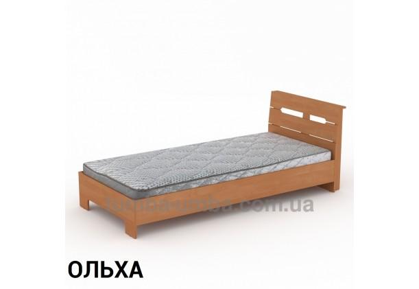 фото стандартная кровать Стиль-90 см Компанит в спальню, на дачу или для общежития в цвете ольха дешево от производителя с доставкой по всей Украине