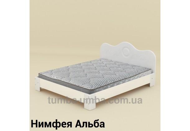 фото стандартная кровать-150 МДФ Компанит в спальню, на дачу или для общежития в цвете Нимфея Альба (белый структурный) дешево от производителя с доставкой по всей Украине