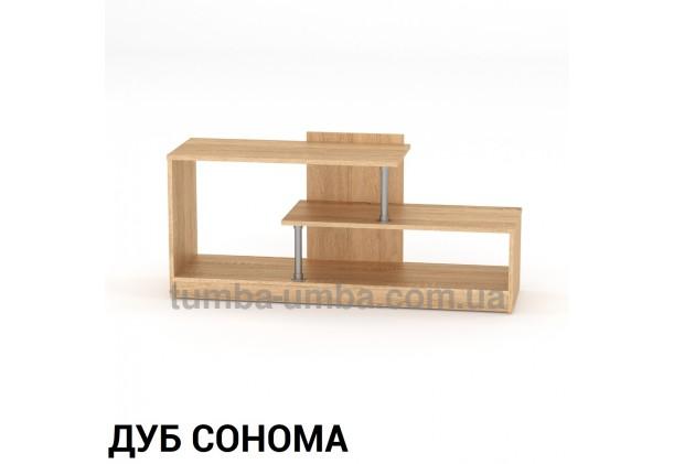 Фото недорогая современная напольная тумба под телевизор и аппаратуру Сумы ДСП в цвете Дуб Сонома дешево от производителя с доставкой по всей Украине