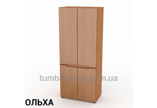 Фото недорогой готовый стандартный платяной Шкаф-23 МДФ для одежды в цвете ольха дешево от производителя с доставкой по всей Украине