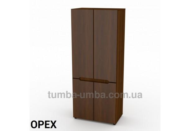 Фото недорогой готовый стандартный платяной Шкаф-23 МДФ для одежды в цвете Орех Экко дешево от производителя с доставкой по всей Украине