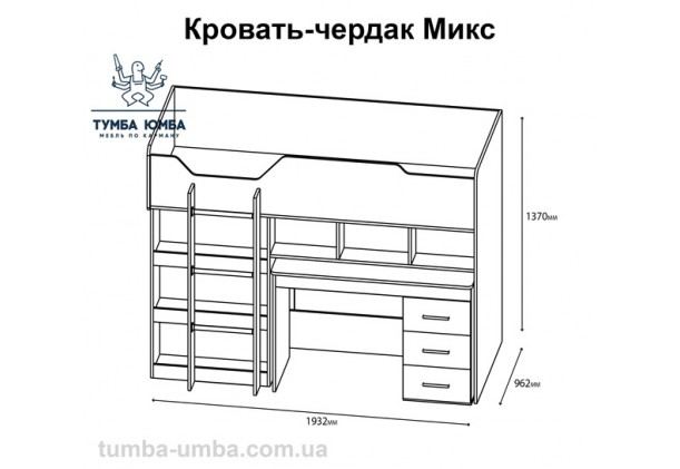 Кровать Микс-Чердак Алекс