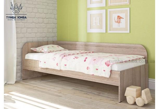 фото в интерьере односпальная кровать-диван Соня-2 Алекс в цвете дуб сонома без ящиков дешево от производителя с доставкой по всей Украине