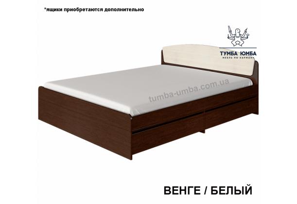 фото стандартная кровать 160 см Алекс в цвете венге белый в спальню дешево от производителя с доставкой по всей Украине
