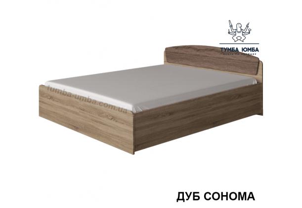 фото стандартная кровать КР-1400+1 140 см Алекс в спальню, на дачу или для общежития в цвете дуб сонома дешево от производителя с доставкой по всей Украине