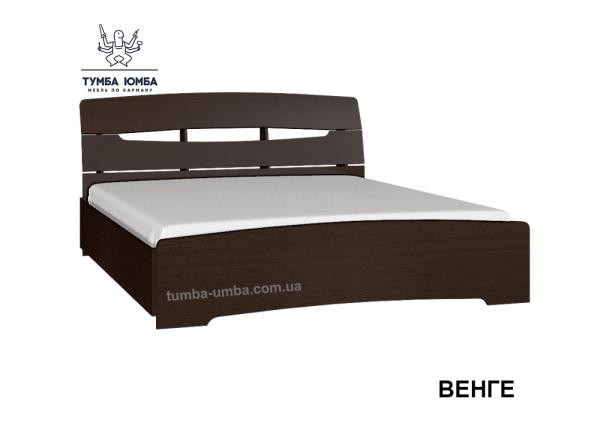 фото стандартная двуспальная кровать Марго-160 Алекс без ящиков в цвете венге в спальню дешево от производителя с доставкой по всей Украине