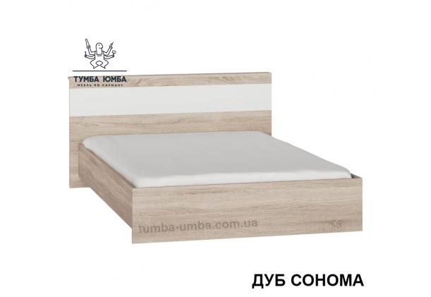 фото стандартная кровать Сон-140 см с ящиками для хранения Алекс в спальню, на дачу или для общежития в цвете дуб сонома дешево от производителя с доставкой по всей Украине