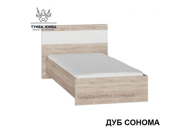 фото односпальная кровать Сон-90 см Алекс в цвете дуб сонома дешево от производителя с доставкой по всей Украине