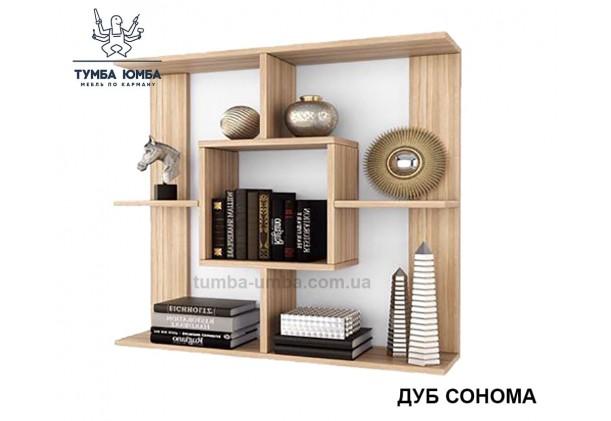 фото недорогая настенная ПН-1 ДСП Алекс цвет дуб сонома для книг в гостинную, над столом, кухню или прихожую в интернет-магазине мебели эконом-класса TUMBA-UMBA™