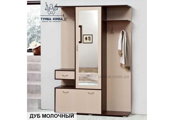 Фото готовая прихожая Блюз со шкафом и зеркалом в коридор в цвете венге и дуб молочный дешево от производителя с доставкой по всей Украине