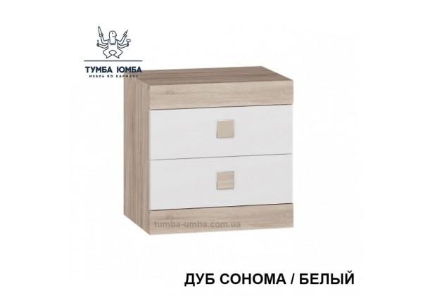 Фото недорогая стандартная прикроватная тумба в спальню Сон Алекс с ящиками в цвете дуб сонома дешево от производителя с доставкой по всей Украине