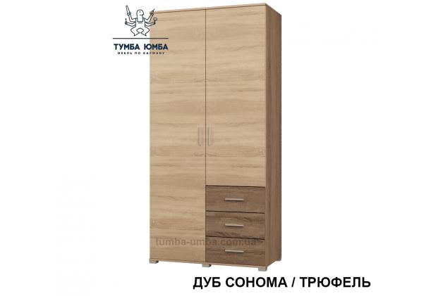 Фото недорогой готовый стандартный платяной Шкаф ШП-4 ДСП для одежды в цвете дуб сонома дешево от производителя с доставкой по всей Украине