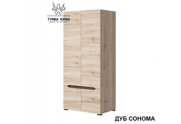 Фото недорогой готовый стандартный платяной Шкаф СМ 2+2 ДСП для одежды в цвете дуб сонома дешево от производителя с доставкой по всей Украине