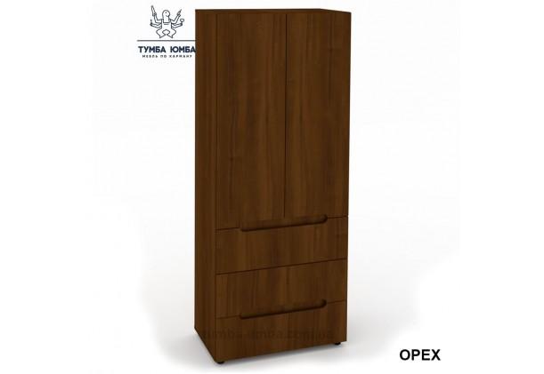 Фото недорогой готовый стандартный платяной Шкаф СМ 2+3 ДСП для одежды в цвете орех дешево от производителя с доставкой по всей Украине