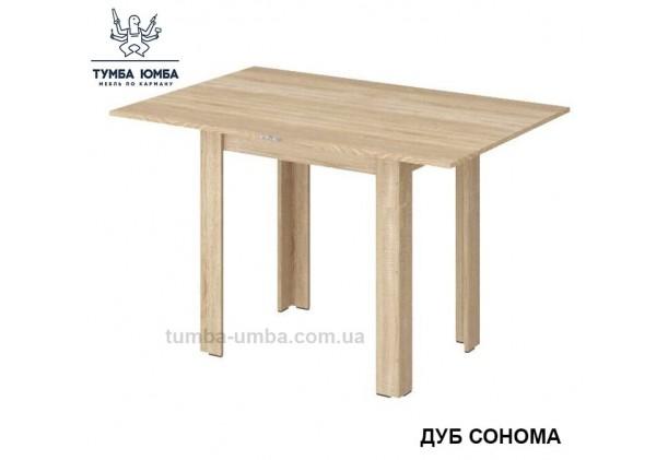 Фото недорогой простой стандартный обеденный стол Прямой раскладной Алекс для дома в цвете дуб сонома дешево от производителя с доставкой по всей Украине