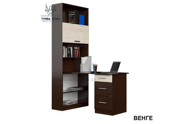Фото готовый прямой стандартный стол Гранд в офис или домой для ноутбука или ПК в цвете венге дешево от производителя с доставкой по всей Украине