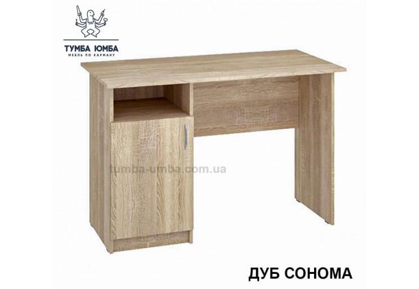 Фото готовый прямой стандартный стол Леон дуб сонома в офис или домой для ноутбука или ПК дешево от производителя с доставкой по всей Украине