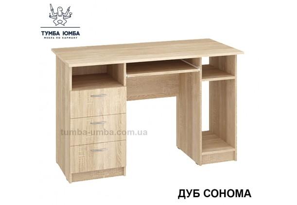 Фото готовый прямой стандартный стол Оскар в цвете дуб сонома в офис или домой для ноутбука или ПК дешево от производителя с доставкой по всей Украине